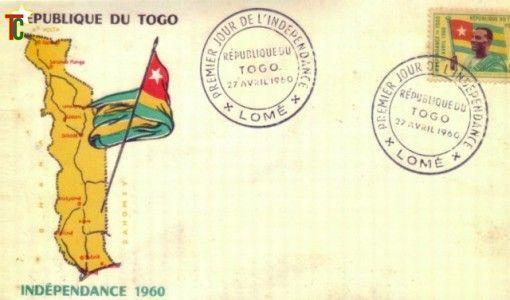 1er timbre du Togo indépendant