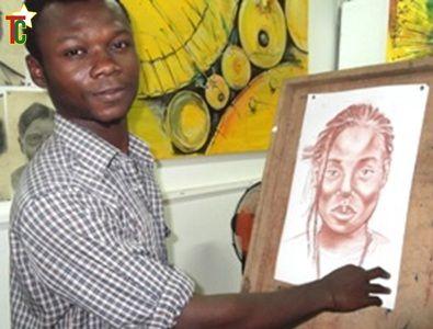 Méli-mélo, un artiste plasticien togolais qui séduit par son crayon sur le site de la Foire de Lomé