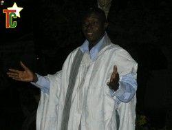 le conteur Alassane Sidibé Photo Gaëtan Noussouglo