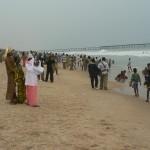 Plage de Lomé La plage commence à connaître un début d'affluence