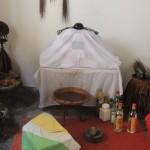 Vodou: Autel de Sakpata ou Sakpatè, le dieu de la terre et de la variole Photo: Gaëtan Noussouglo