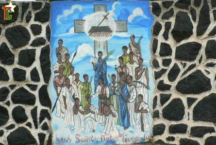 Les martyrs de l'Eglise Saints Martyrs de l'ouganda de Lomé Photo Gaëtan Noussouglo