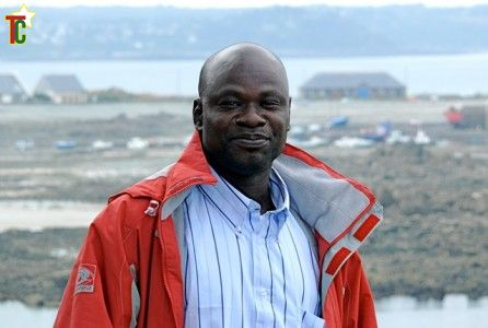 L'écrivain  Noel Tingayama Mawoà la Roche Jagu en Bretagneà la Roche Jagu en Bretagne