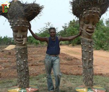 Kossi Agbodo, plasticien naturaliste