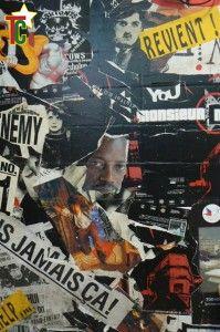 Sur un mur en Haute Saône le visage de Sami Tchak Photo: Gaëtan Noussouglo