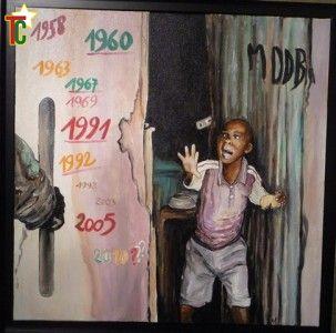 Togo: Déjà frappé un tableau de Gisèle Ravey Photo: Gaëtan Noussouglo