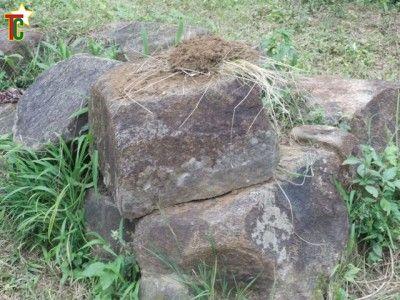 Pierre sur laquelle s'asseyent les akpemas a Lama Sawda Photo: Noël Tingayama Mawo