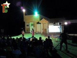 Veilles Theatrales de Baguida: une vue des spectateurs lors d'une lecture devant la Maison des Artistes de Baguida