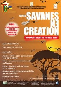 Affiche du Festival Savanes en Creation