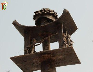 Togbui Zikpe ou siège ancestral à Glidji Photo: Gaëtan Noussouglo