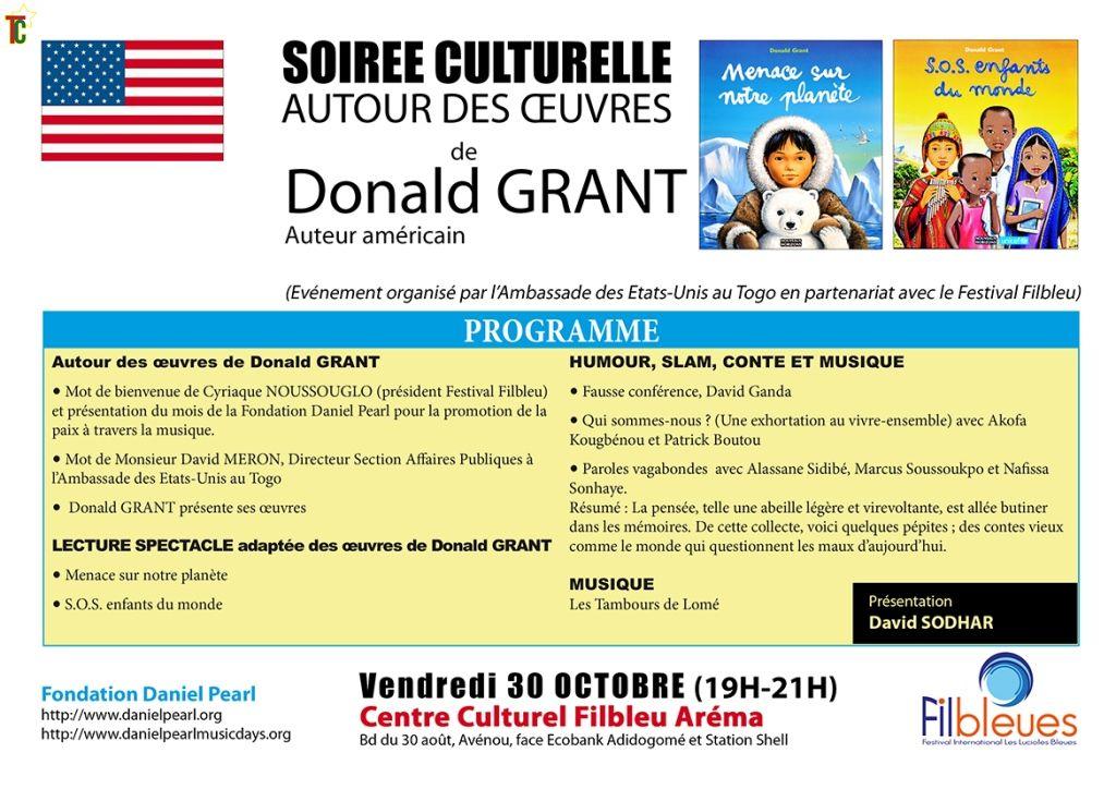 Togo: Créativité littéraire autour de l'auteur américain Donald Grant