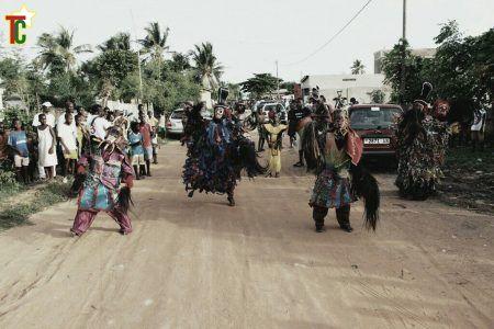 Les rues d'Agbodjrafo ont servi de cardre au Festival des enchainés