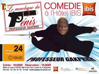 Togo: Le Monologue du Pénis de Frédéric Gakpara à l'Hôtel Ibis de Lomé le 24 septembre