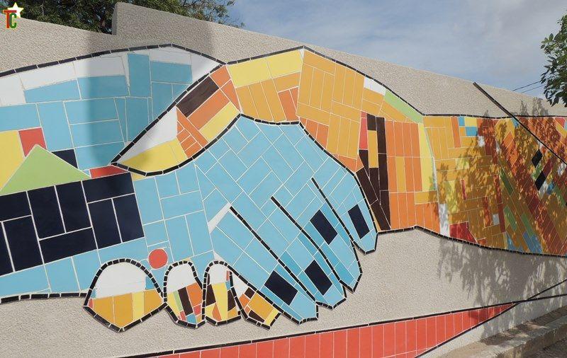 Des fresques des artistes togolais tracent le Chemin de la Paix