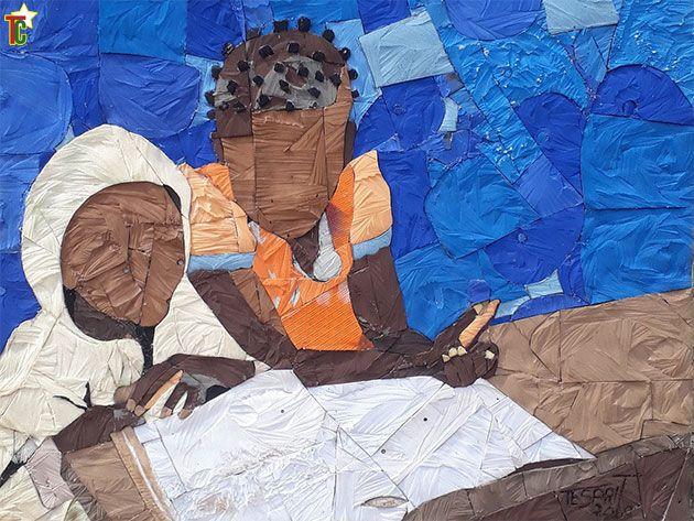 Recyclart à Lomé : Exposition Dzimakplao de Tesprit Tete à l'Hôtel Onomo
